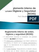 Unidad 2 Fuentes Reglamento Interno de Orden Higiene y Seguridad