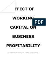 Effect of Working Capital on Business Profitability