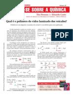 026 - Qual é o polímero dos vidros laminados dos veículos?