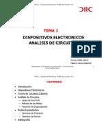 Tema 1. Dispositivos Electronicos Analisis de Circuitos