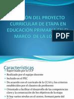 Revisión Del Proyecto Curricular de Etapa