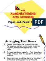 Administering and Scoring Test