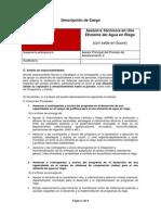 Descripción de Cargo - AT en Uso Eficiente del Agua en Riego, Ing. Agrónomo (SRE).pdf
