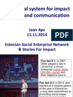 Jaan Aps. A practical system for impact analysis and communication.