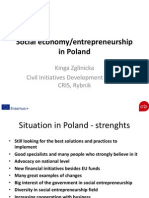 Kinga Zglinicka. Social economy/entrepreneurship in Poland