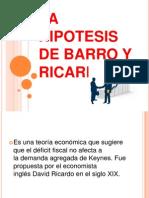 La Hipotesis de Barro y Ricardo Ppt