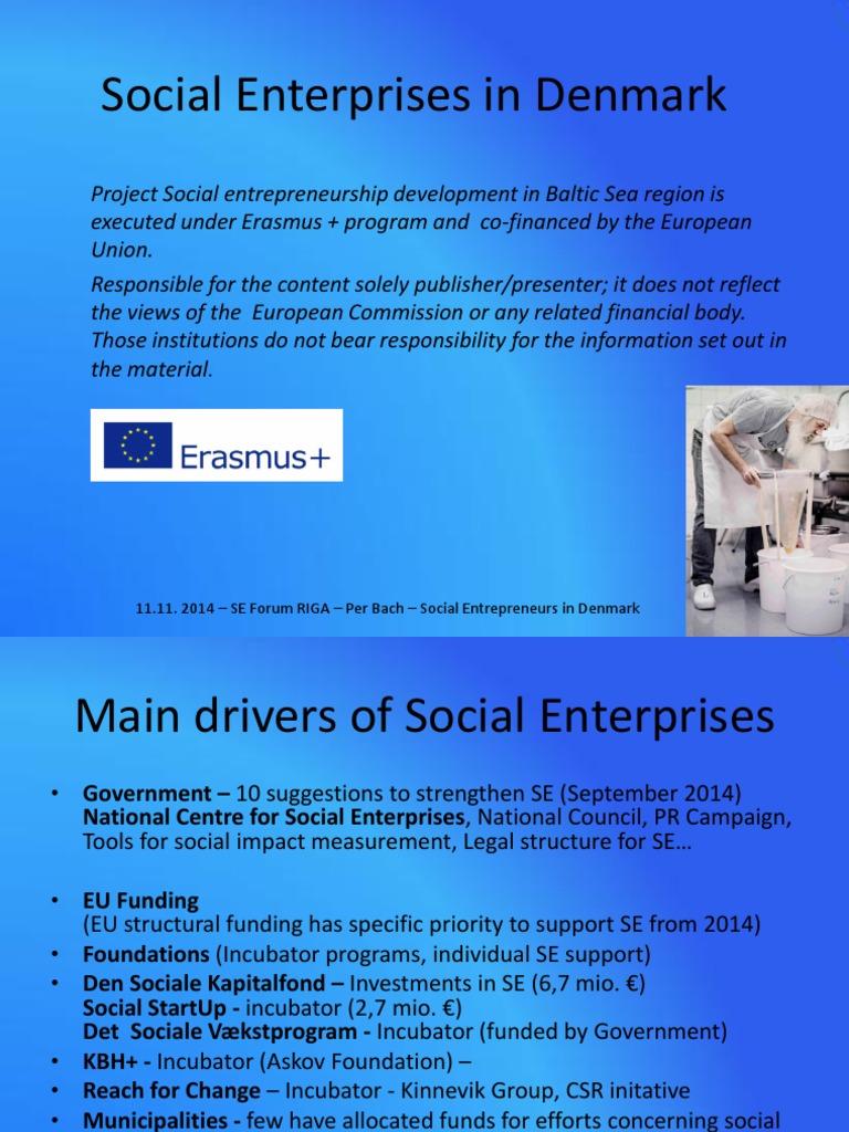 Per Bach  Social Enterprises in Denmark   Social Enterprise