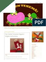 Mun Tekemä!_ My Crochet Converse Slippers - English Instructions