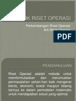 01 Teknik Riset Operasi