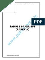 Sample Paper Ese Paper A