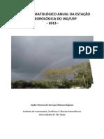 Boletim Climatológico de 2013 da Estação Meteorológica do IAG-USP