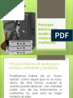 Principio Básicos de Audio Para Músicos y Cantantes