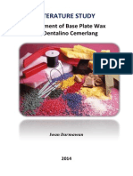 Experiment for Base Plate Dental Wax (PTDC) 2014 - LITERATURE STUDY.pdf