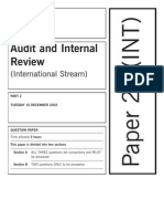 Audit and Internal Review