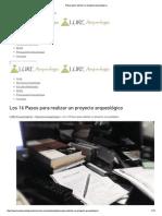 Los 16 Pasos para realizar un proyecto arqueológico.pdf
