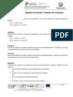 1 - Circuitos Lógicos (Algebra de Boole, Tabela de Verdade)