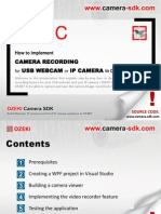 How to implement camera recording for USB webcam or IP camera in C#.NET