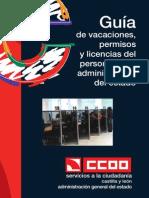 Guia de Vacaciones Permisos y Licencias Del Personal de La Administracion Del Estado