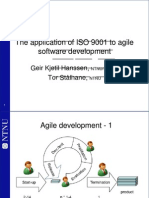 The Application of ISO 9001 to Agile Software