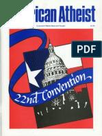 American Atheist Magazine July 1992