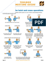 TG07-29 Hand Signals for Hoist and Crane Operators