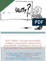 RAP 1 TEMA 1 Concepto Personalidad, Conducta