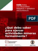Guia Para Pequeños Mineros Artezanales