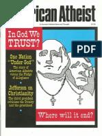 American Atheist Magazine April 1991