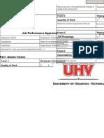 Job Performance Appraisal