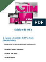 Edicion de OTs