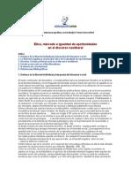 Etica, mercado e igualdad de oportunidades en el discurso neoliberal-1° oct. 2001.doc