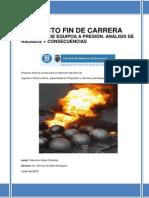 Proyecto FNB UPC Saturnino Galan Fontenla Explosion de Equipos a Presión Análisis de Riesgos y Co