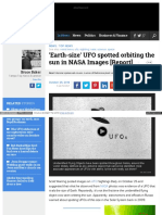 Www Examiner Com Article Earth Size Ufo Spotted Orbiting The