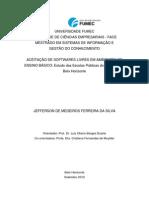 ACEITAÇÃO DE SOFTWARES LIVRES EM AMBIENTES DE ENSINO BÁSICO