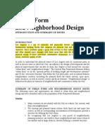 Urban Form & Neighborhood Design