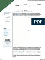 Ejemplo Básico de MySQL Con Java