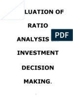 Evaluation of Ratio Analysis on Investment Decision Making