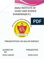 Presentation on Solar Energy