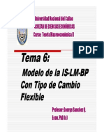 Modelo de La is Lm Bp Con Tipo de Cambio Flexible