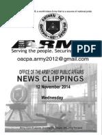 12 Nov 14-News Clippings