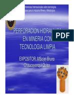 Perforacion Hidraulica en Mineria Con Tecnologia Limpia