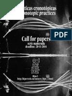 callforpapers Prácticas Cronotópicas