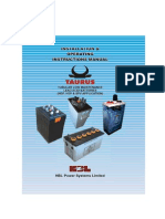 Tubular low maintanance battery