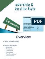 Leadership & Leadership Style