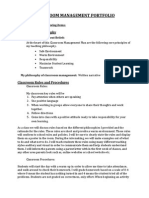 edf 310 classroom management portfolio 20141 autosaved
