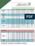 ESEO Schedule 2014-2015