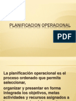 PLANIFICACION OPERACIONAL