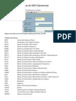 Tabelas SAP SD