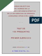test oposiciones universidad de Granada