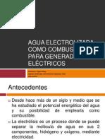 Agua Electrolizada Como Combustible Para Generadores Eléctricos 1.0
